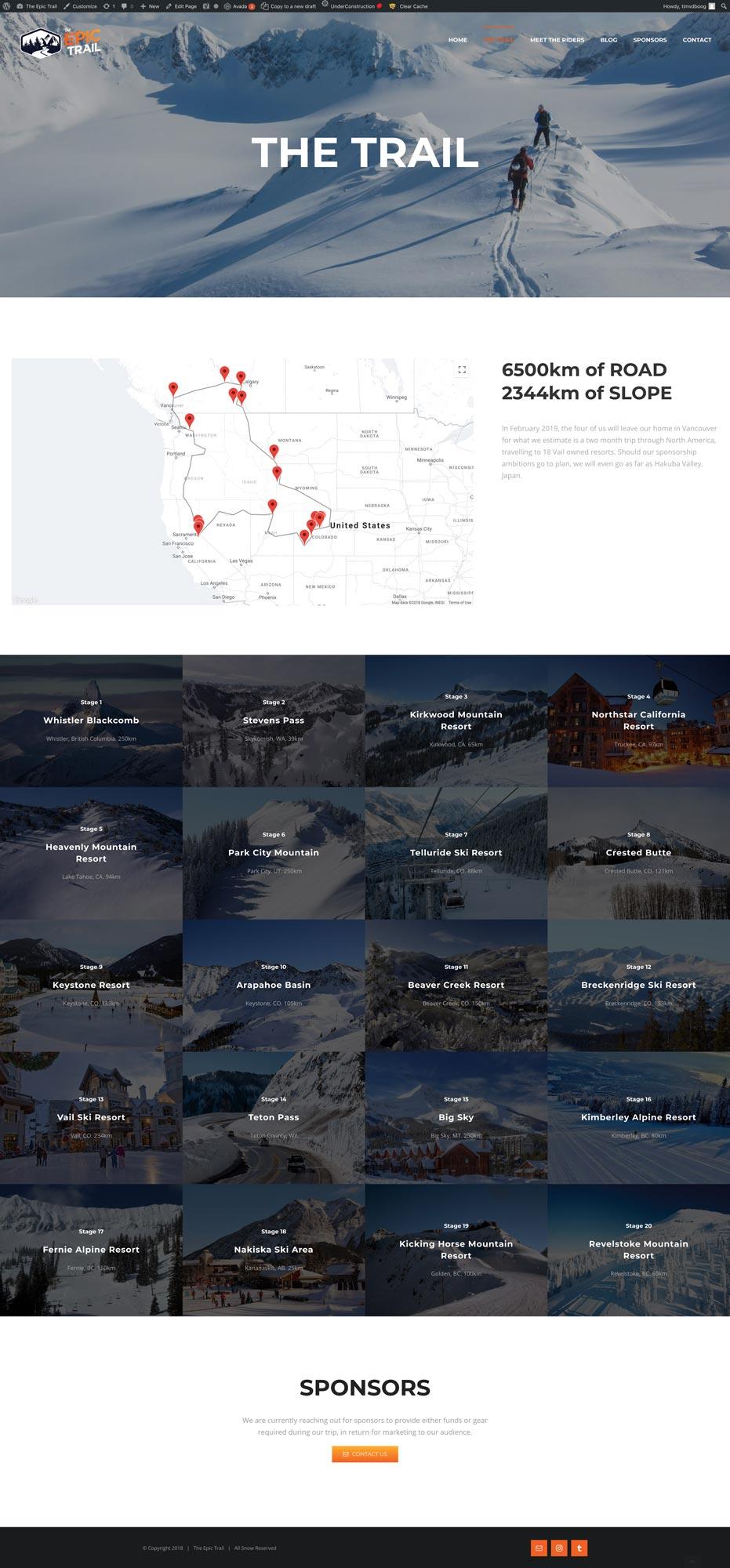 Webdevelopment Epic Trail.ski Tim van den Boog TIMIT